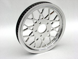 RP-MC-65112 MESH CHROME CUSTOM REAR PULLEY